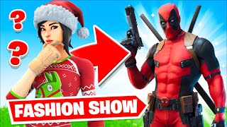 Fortnite | Fashion Show! Skin Competition! *DEADPOOL ONLY* & EMOTES WINS!