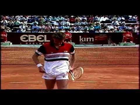 Yannick Noah vs Miloslav Mecir  Final Italian Open Roma 1985 part 2
