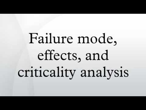 Failure Mode, Effects, And Criticality Analysis