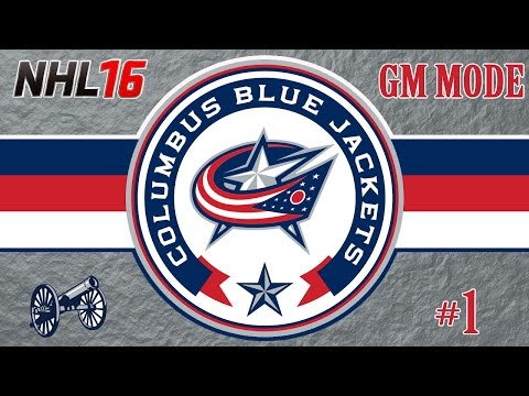 NHL 16 Columbus Blue Jackets GM