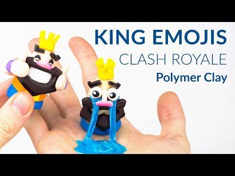 #1 King Emojis (Clash Royale) – Polymer Clay Tutorial
