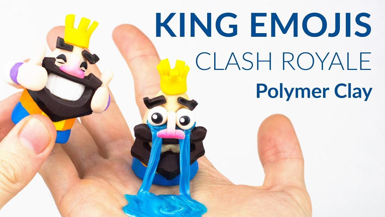 1 King Emojis Clash Royale Polymer Clay Tutorial
