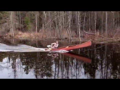 3HP Sears Outboard On A Canoe