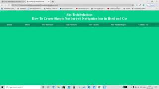 How To Create Simple Navbar / Navigationbar in Html and Css   Html Navbar    Navigationbar in Html