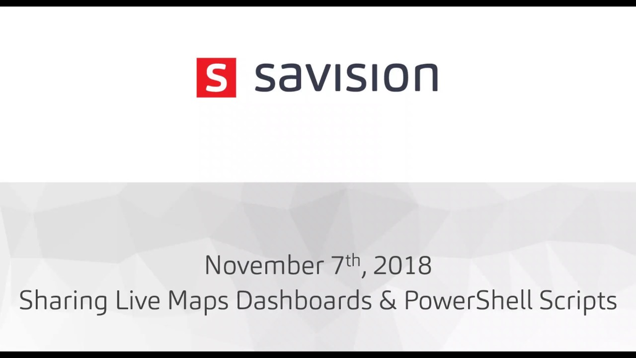 User Group Session] How to share your Live Maps dashboards