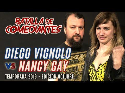 Diego Vignolo Vs Nancy Gay | Cuartos Final | Octubre 2019 | Batalla De Comediantes