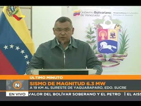 ¡Sismo de 6,3 Mw en Venezuela! Habla ministro de Relaciones Interiores, Nestor Reverol