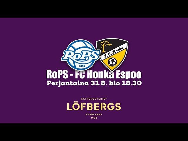 Löfbergs aamukahvit 31.8.2018 RoPS - FC Honka Espoo