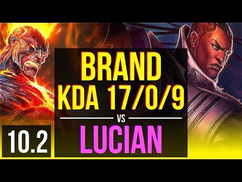 BRAND & Leona vs LUCIAN & Braum (ADC) | 3.9M mastery points, KDA 17/0/9 | BR Diamond | v10.2