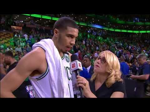 Jayson Tatum Postgame Interview - Game 5   Cavaliers vs Celtics   2018 NBA East Finals