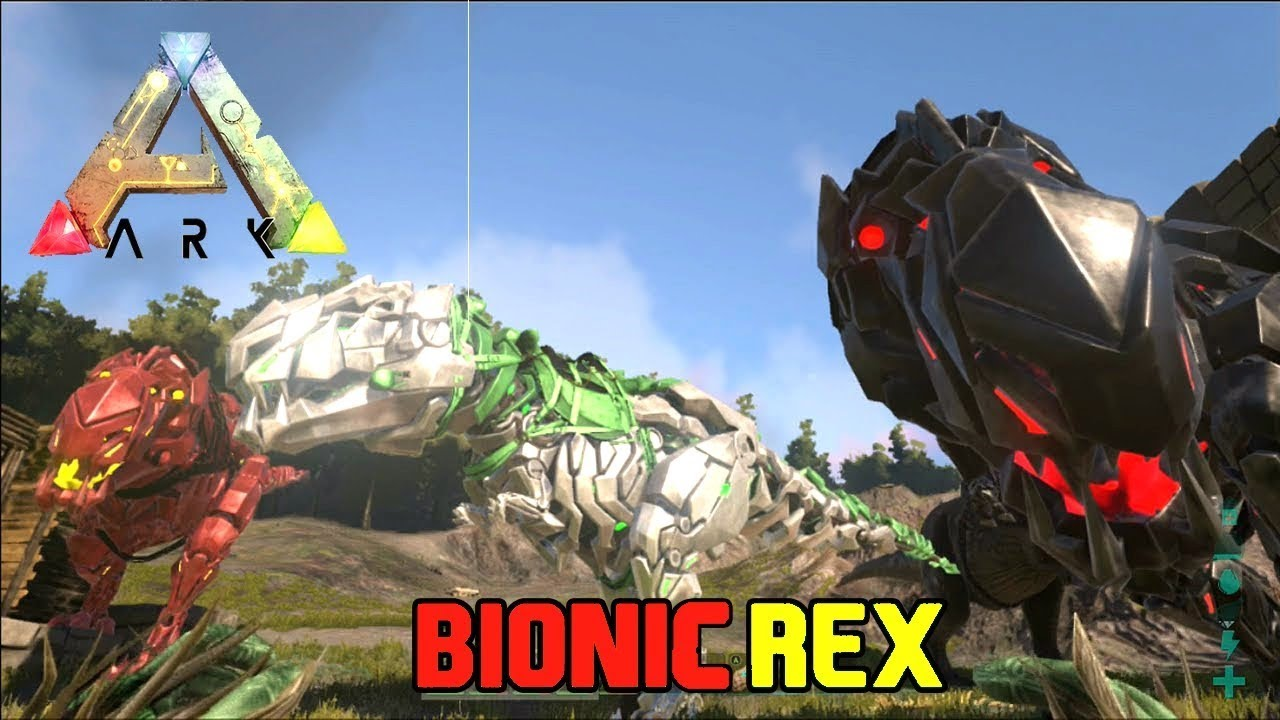 how to spawn tamed bionic rex at any level ark survival