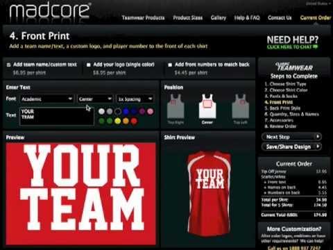 Madcore Custom Sportswear Online Uniform Builder And Shirt