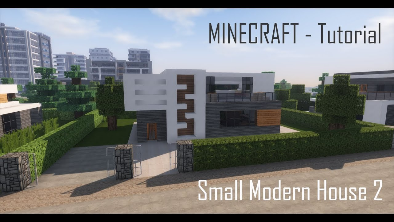Minecraft Small Modern House 2 Tutorial Exterior YouTube
