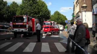 pompier  incendie restaurant l europe. verviers wmv