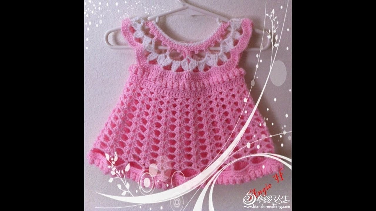 Crochet Patterns For Free Crochet Baby Dress 2453 Youtube