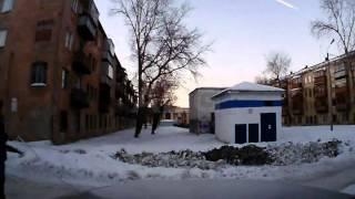 Meteorito en Rusia varios momentos del impacto, y Cráter Audio original