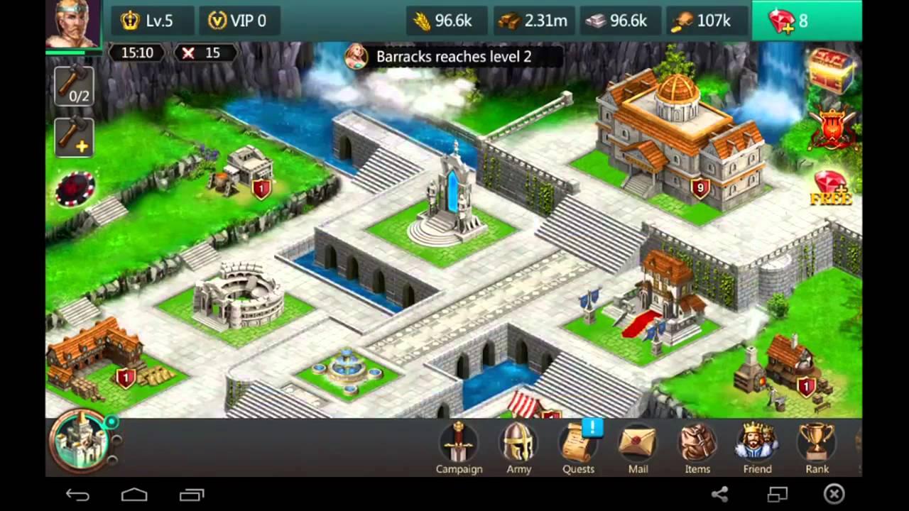 Age Of Kingdom Empire Clash Alliance Tutorial 2 Youtube
