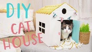 CÓMO HACER UNA CASA PARA GATOS 🐈 | HOW TO MAKE A CAT HOUSE | Silvia Ahora