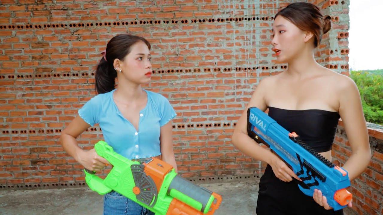 Squad SWAT Nerf Guns Fight Criminal illegal Exchange Special Mission | Superheroes SWAT