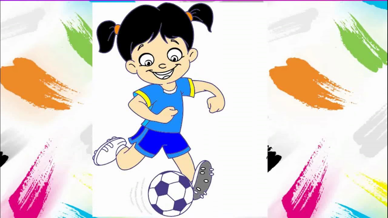 Mewarnai Gambar Pemain Sepak Bola Permainan Anak Kreasi Anak