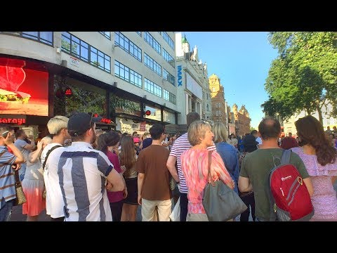 LONDON WALK from Tottenham Court Road Station to Leicester Square | England