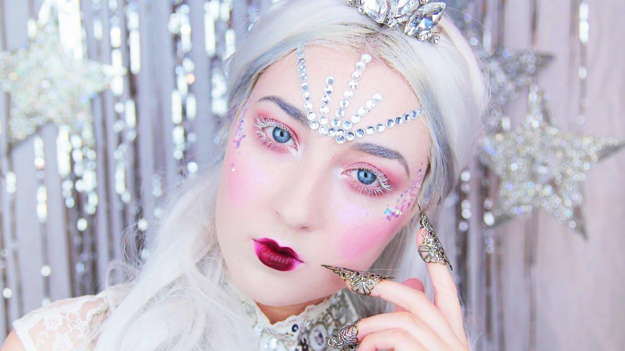 snow queen makeup tutorial - youtube