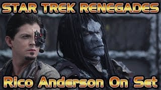 Rico Anderson On Set - Star Trek Renegades