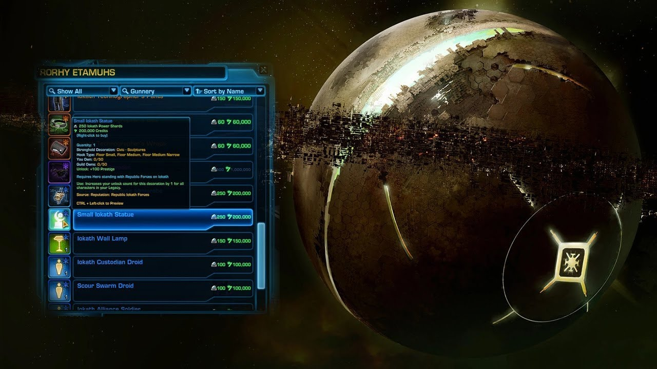 SWTOR Iokath Daily Area Vendors Overview