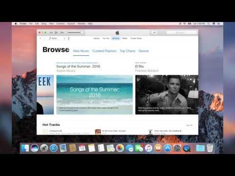 Apple Music Demo - macOS Sierra 10.12 Beta 1