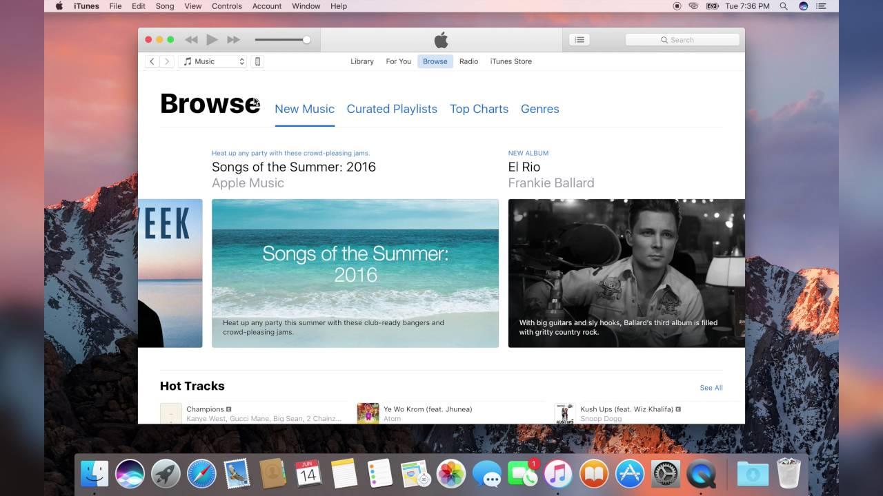 Apple Music Demo - macOS Sierra 10 12 Beta 1