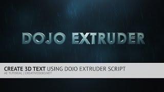 AE: het Maken van 3D Tekst met Behulp van Dojo Extruder Script (GRATIS)
