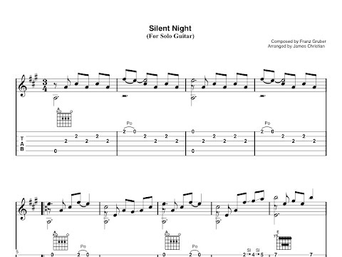How to play Silent Night: Guitar lesson with tab - YouTube