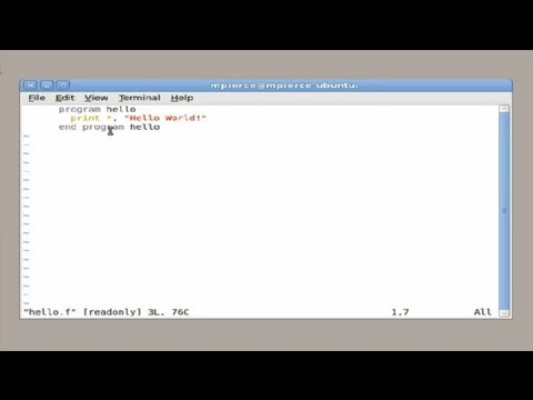 How to Open a Fortran in Linux : Computers & Tech Tips