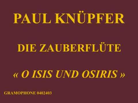 Paul Knüpfer   Die Zauberflöte   O Isis und Osiris   Gramophone 042403 enregistré le 16 avril 1913