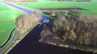 139. Luchtopname Hooivaartbrug en Goëngahuizen 20-11-2015
