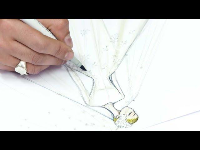 The expertise behind Miranda Kerr's wedding dress