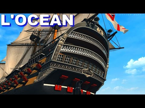 Naval Action - First Rate Ship L'Ocean in Rear Admiral Mission