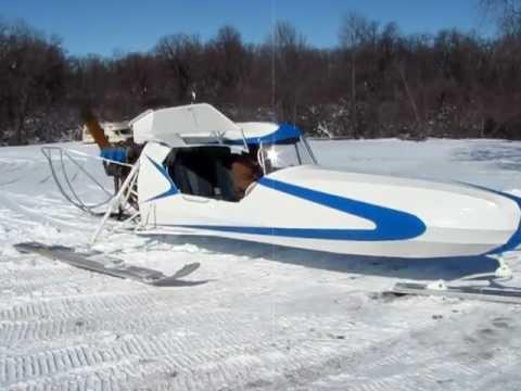 Snow Plane Quot Aerosled Quot Part I Youtube