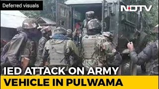 Army Vehicle Attacked In Jammu And Kashmir's Pulwama, Encounter Underway
