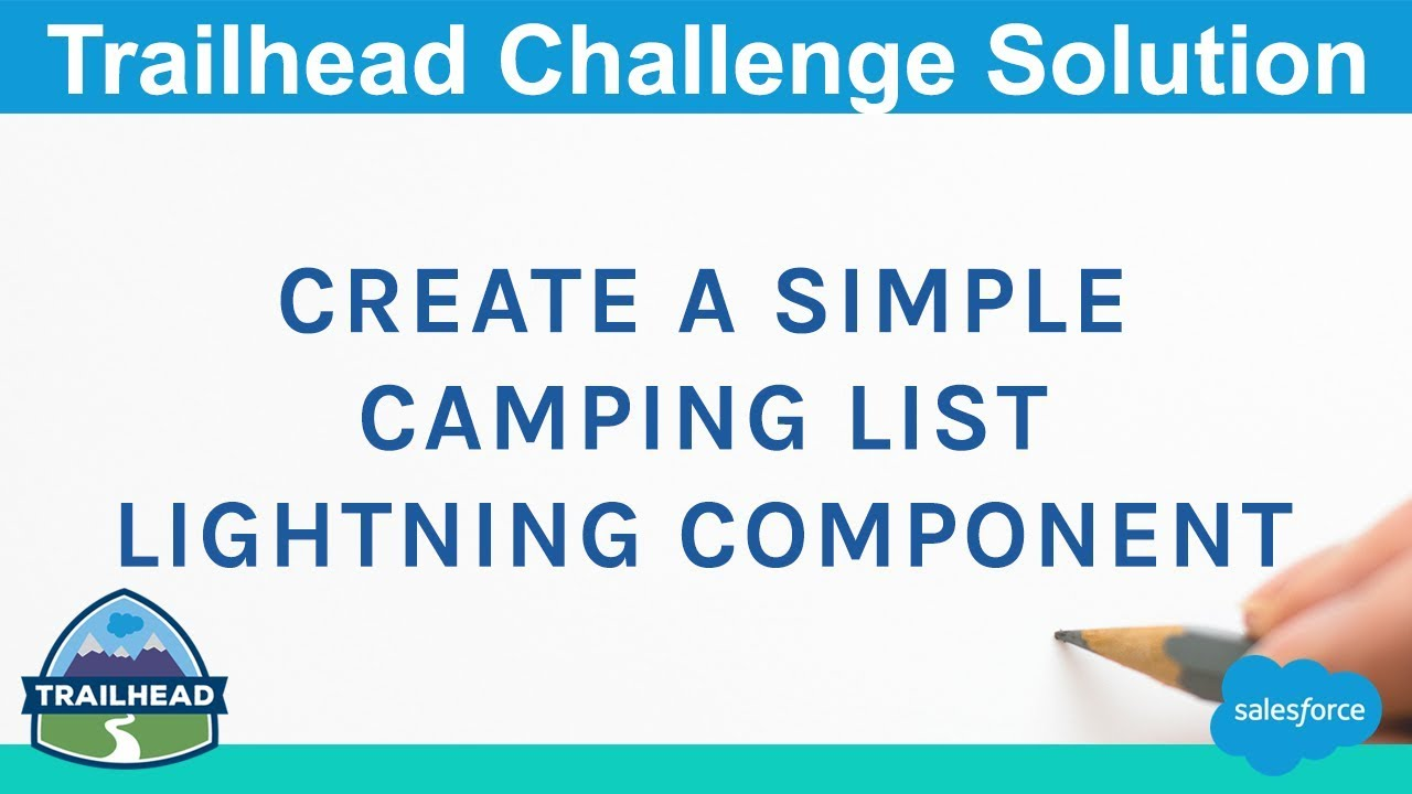 Create a Simple Camping List Lightning Component