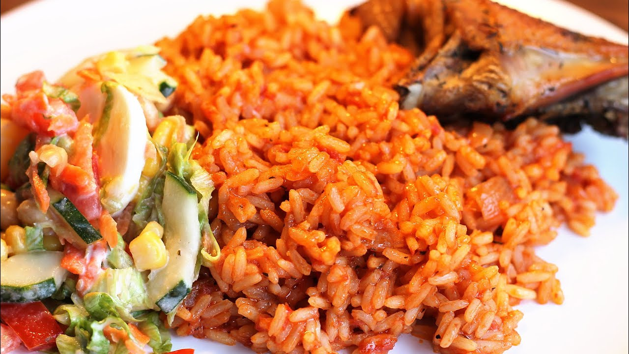 Image result for jollof rice and chicken