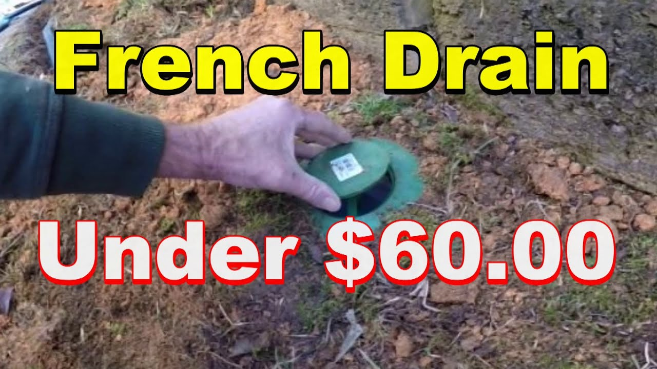 How To Build A French Drain Next To The House