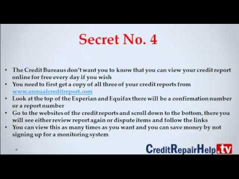 Five Secrets The Credit Bureaus Don