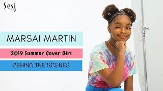 Marsai Martin Cover Shoot - Behind the Scenes