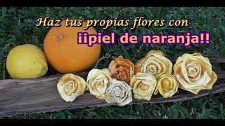 Cómo hacer flores con cáscara de naranja. Decoración floral