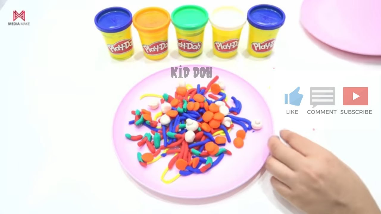 play doh mixed pasta fun videos for kids youtube. Black Bedroom Furniture Sets. Home Design Ideas