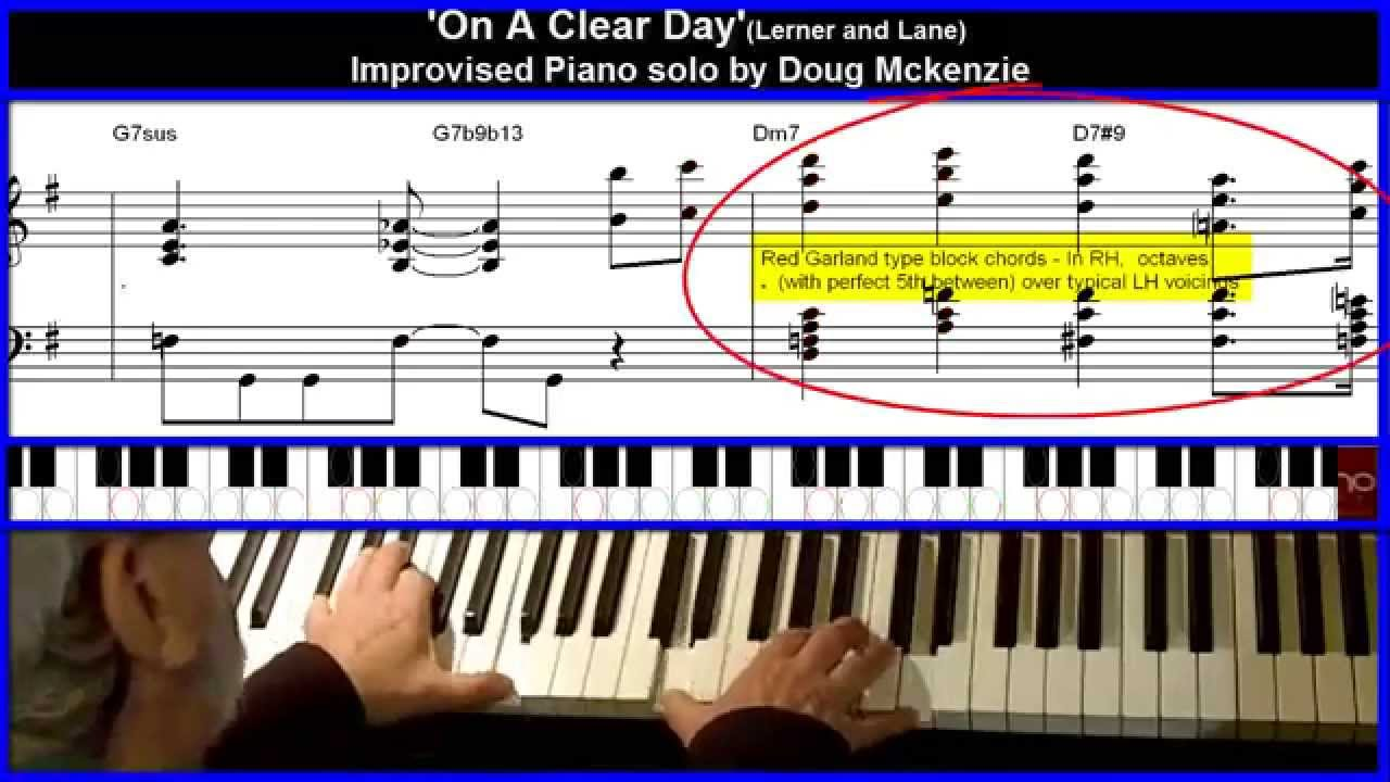On a clear day jazz piano tutorial youtube on a clear day jazz piano tutorial hexwebz Images