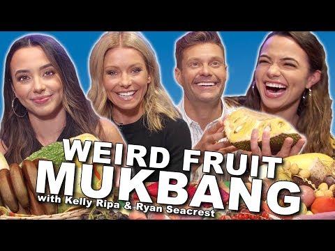 Weird Fruit Mukbang with Kelly Ripa & Ryan Seacrest - Merrell Twins