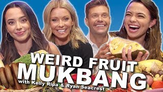 Weird Fruit Mukbang with Kelly Ripa & Ryan Seacrest - Merrell Twins