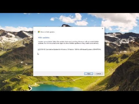 How to Prevent a Specific Windows 10 Update or Driver From Installing
